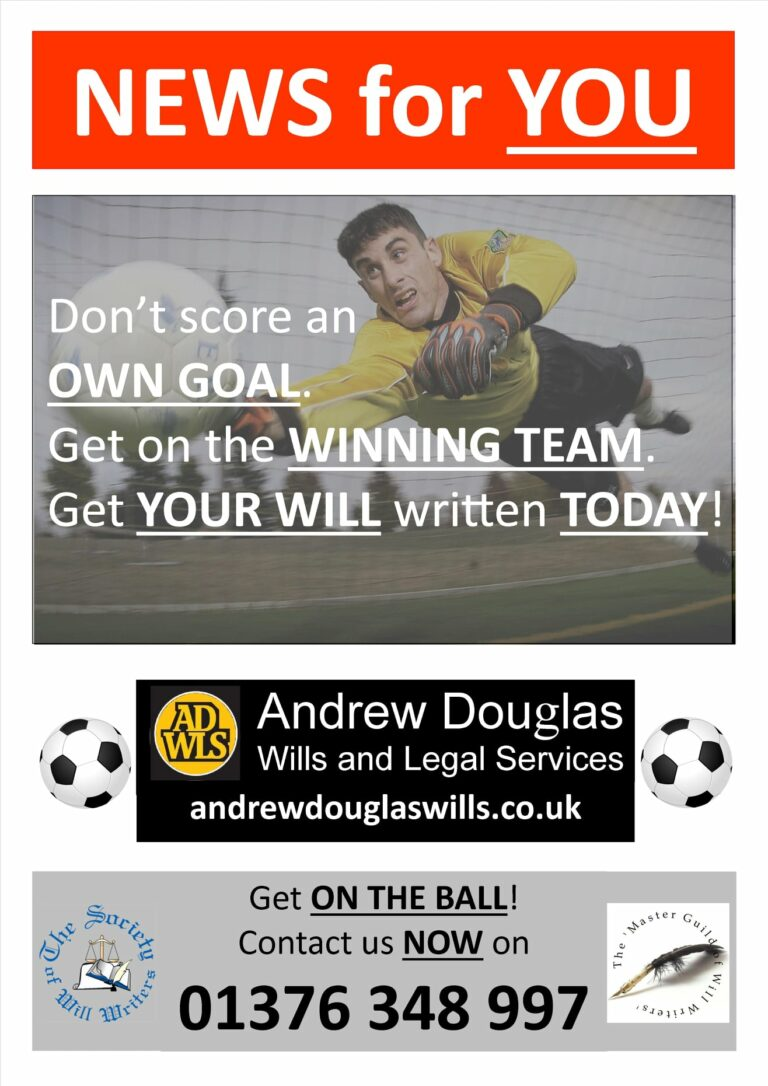 Sponsored: Don't Score An OWN GOAL!. Get Your Will Written Today