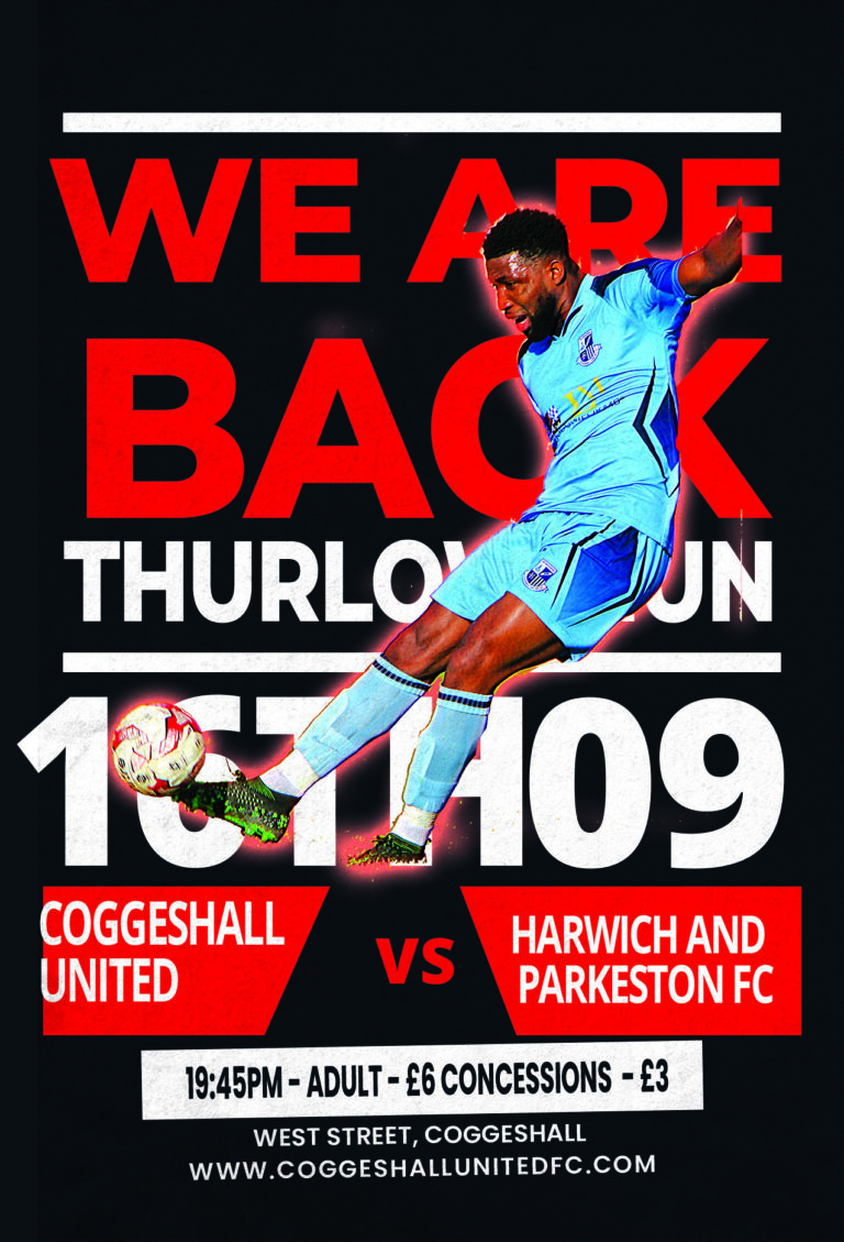 Coggeshall United V Harwich And Parkeston | MATCH PROGRAMME